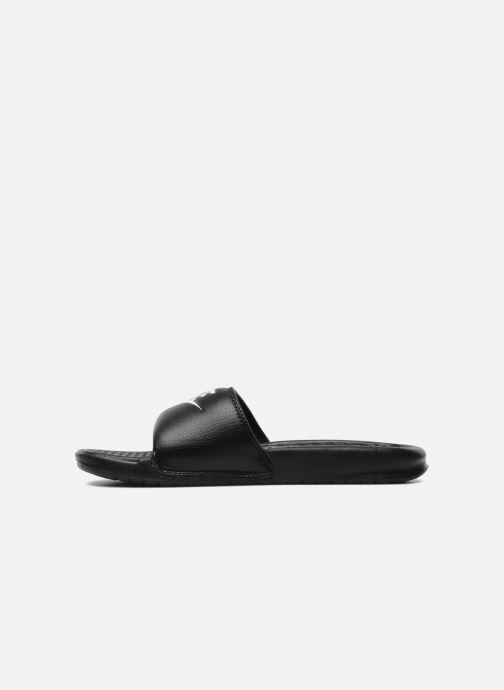 Sandalen Nike Benassi Jdi schwarz ansicht von vorne