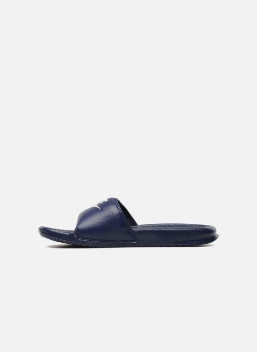 Sandalen Nike Benassi Jdi blau ansicht von vorne