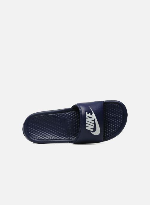 Sandalen Nike Benassi Jdi blau ansicht von links