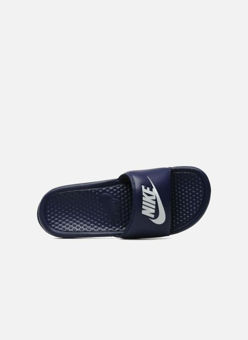 Sandals Nike Benassi Jdi Blue view from the left