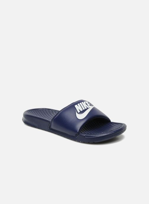 Sandals Nike Benassi Jdi Blue detailed view/ Pair view