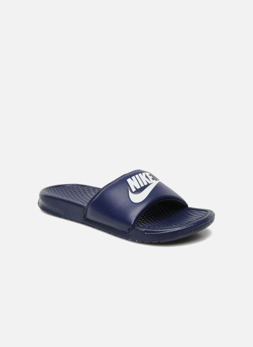 Sandals Nike Benassi Jdi Blue detailed view/ Pair view