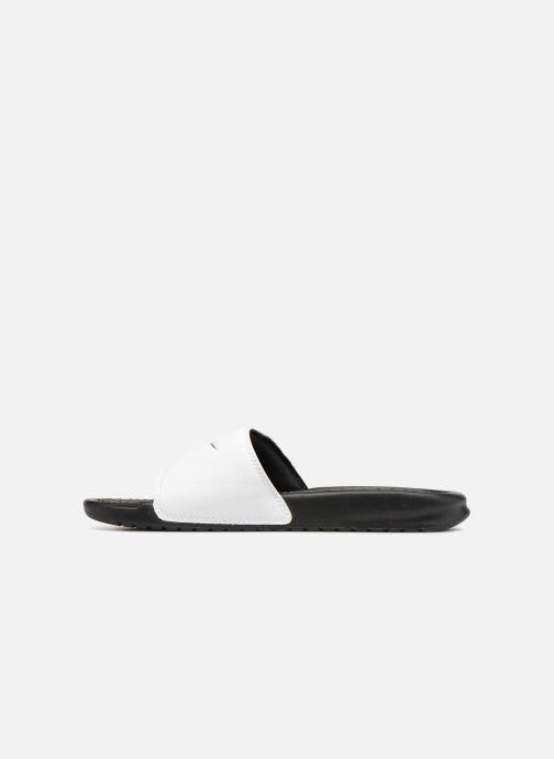 Sandalen Nike Benassi Jdi weiß ansicht von vorne