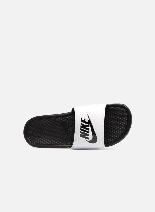 Sandalen Nike Benassi Jdi weiß ansicht von links