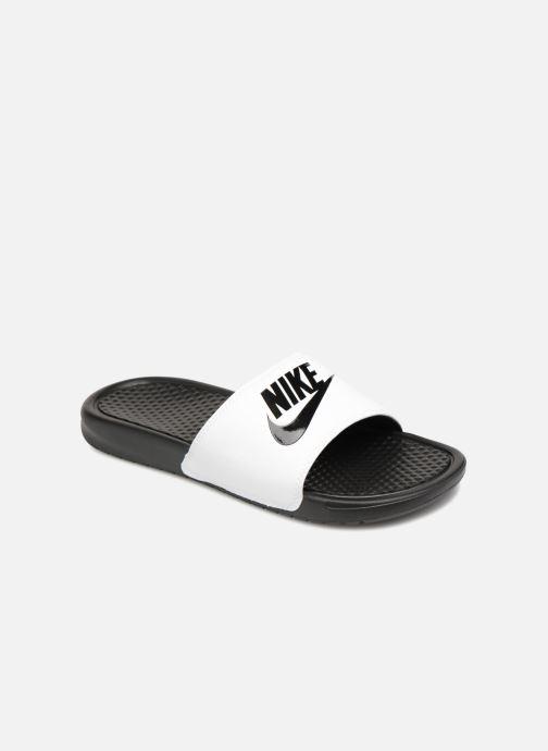 Sandales et nu-pieds Nike Benassi Jdi Blanc vue détail/paire