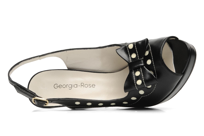 Sandales et nu-pieds Georgia Rose Anna Louisa Noir vue gauche