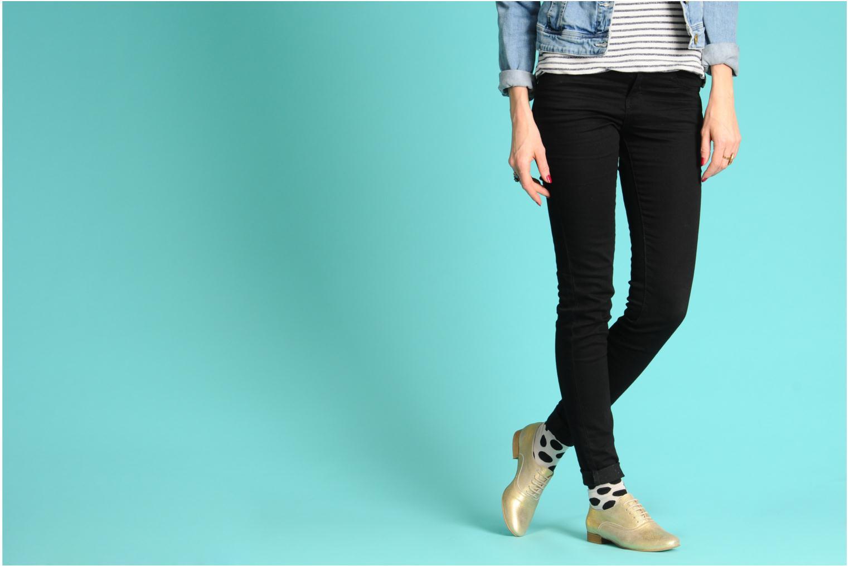 Chaussures à lacets Georgia Rose Lalla Or et bronze vue bas / vue portée sac