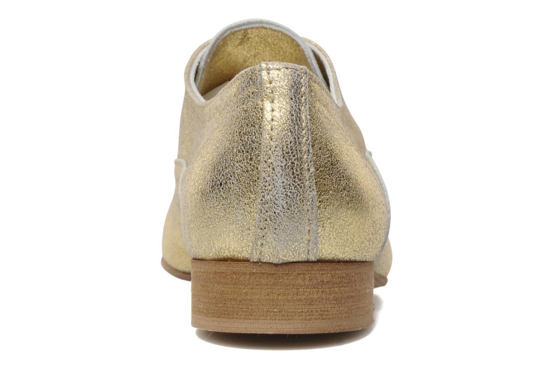 Chaussures à lacets Georgia Rose Lalla Or et bronze vue droite