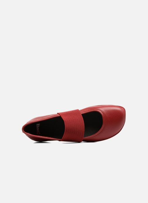 Ballet pumps Camper Right Nina 21595 Red view from the left
