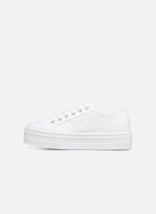 Sneaker Victoria Blucher Lona Plataforma weiß ansicht von vorne