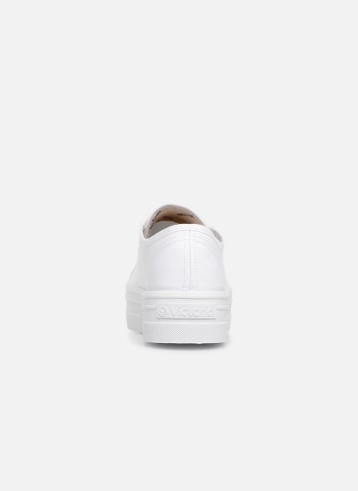Trainers Victoria Blucher Lona Plataforma White view from the right