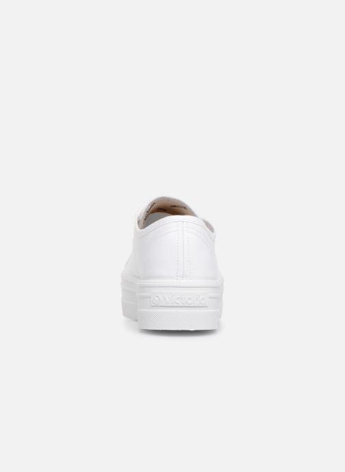Sneaker Victoria Blucher Lona Plataforma weiß ansicht von rechts
