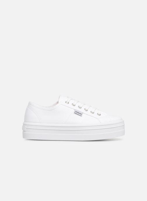 Sneakers Victoria Blucher Lona Plataforma Hvid se bagfra