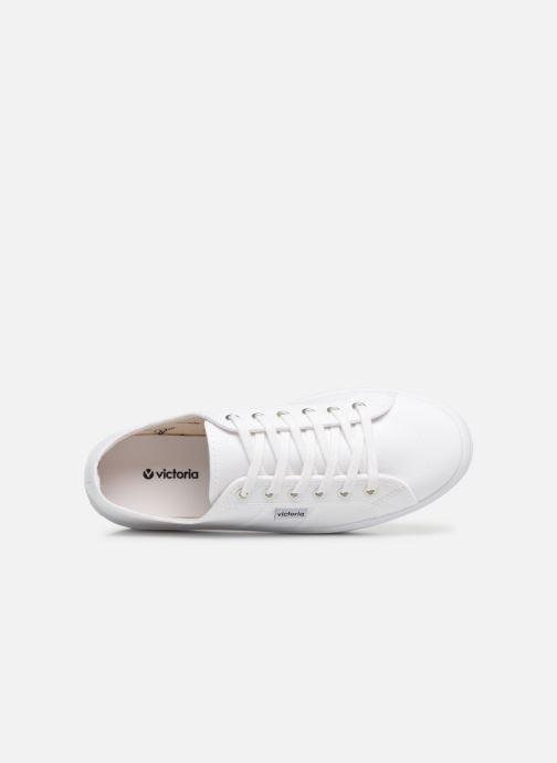 Sneaker Victoria Blucher Lona Plataforma weiß ansicht von links