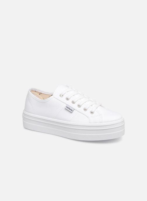 Sneakers Victoria Blucher Lona Plataforma Hvid detaljeret billede af skoene