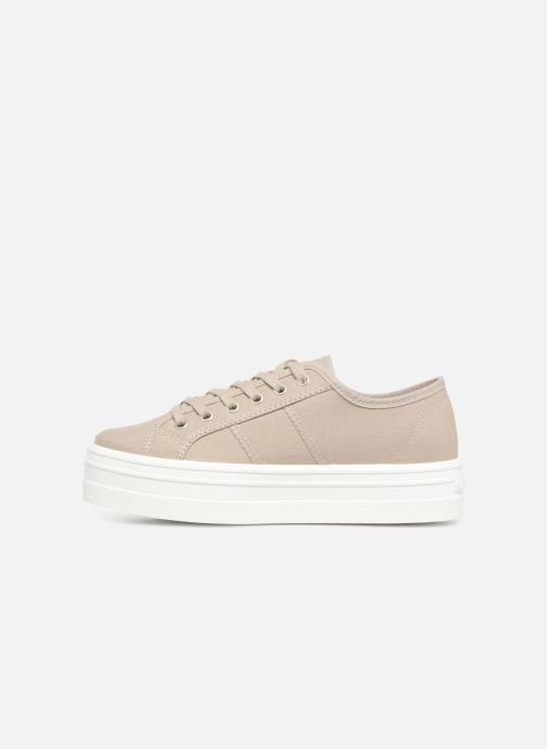 Sneakers Victoria Blucher Lona Plataforma Beige se forfra