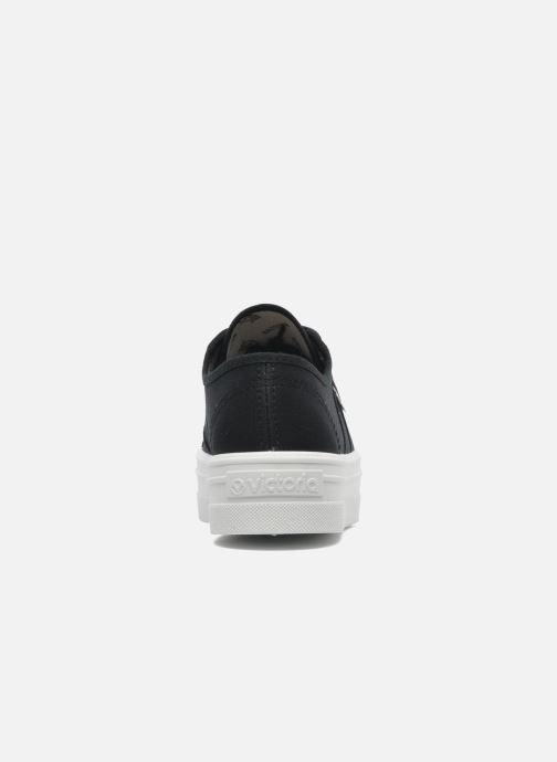 Sneaker Victoria Blucher Lona Plataforma schwarz ansicht von rechts