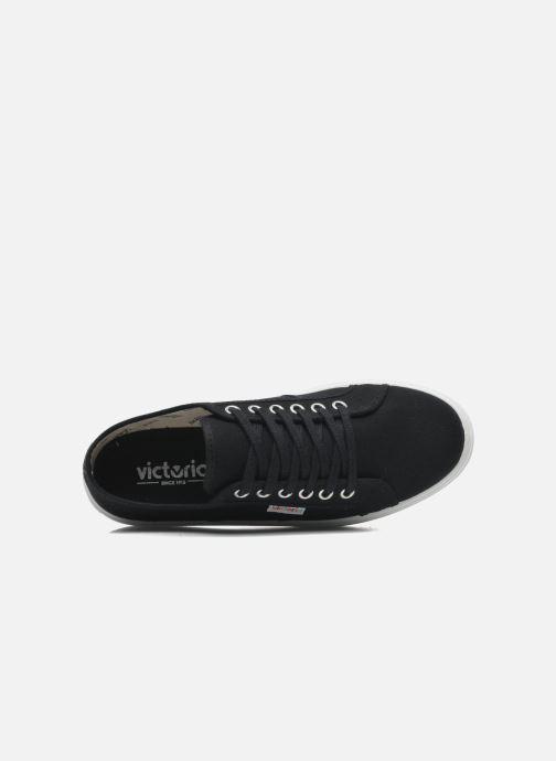 Sneaker Victoria Blucher Lona Plataforma schwarz ansicht von links