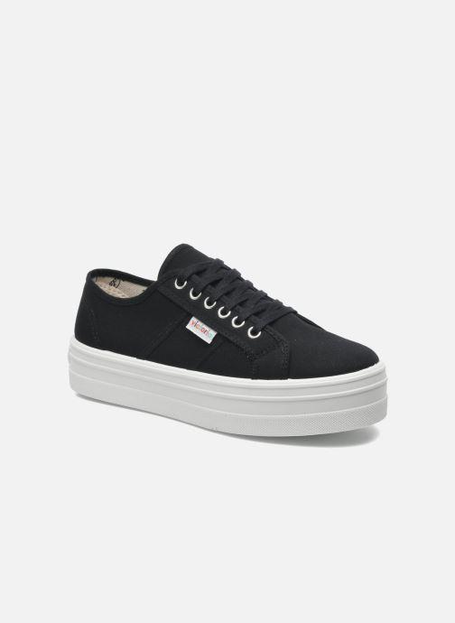 Sneakers Victoria Blucher Lona Plataforma Nero vedi dettaglio/paio