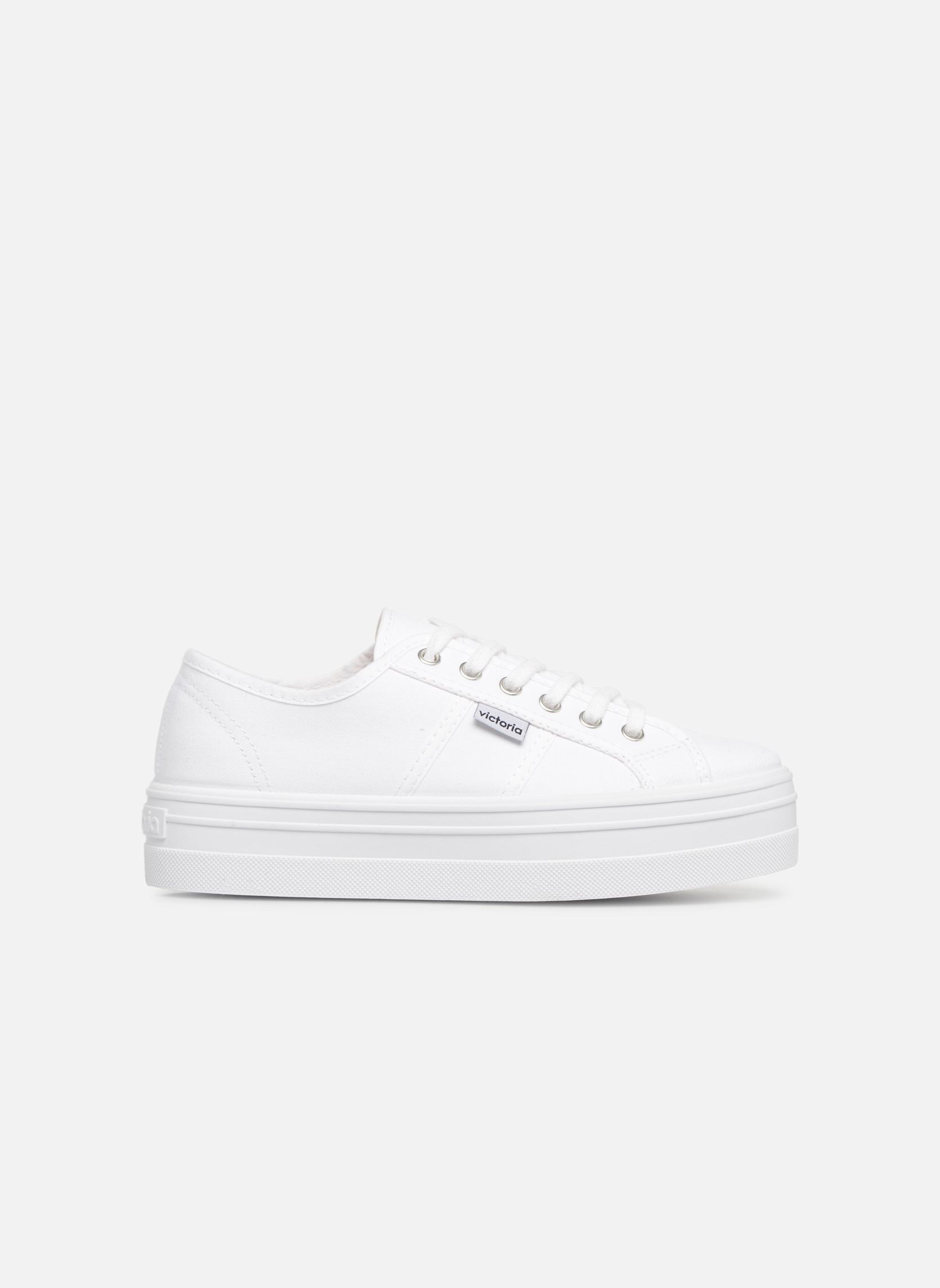 Sneakers Victoria Blucher Lona Plataforma Wit achterkant
