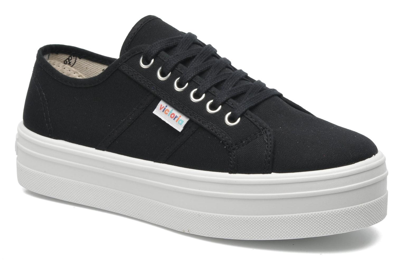 Victoria Blucher Lona Plataforma (Noir) - Baskets en Más cómodo Nouvelles chaussures pour hommes et femmes, remise limitée dans le temps