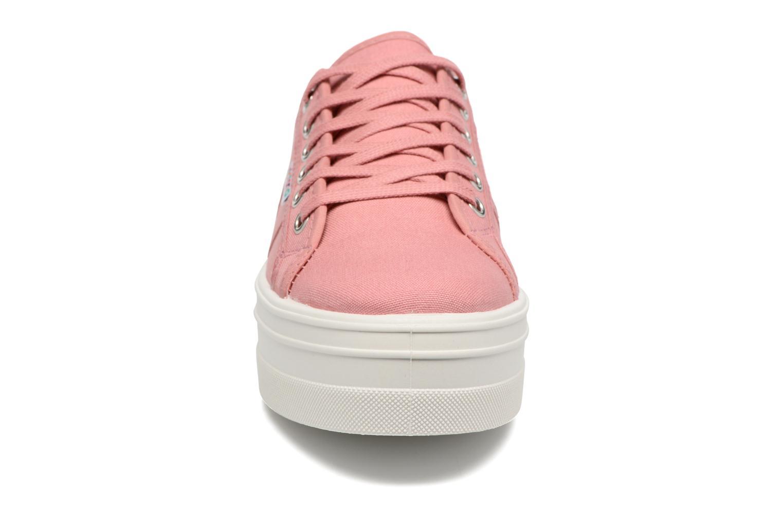 Baskets Victoria Blucher Lona Plataforma Rose vue portées chaussures