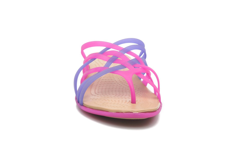 Mules et sabots Crocs Huarache Flip Flop Women Violet vue portées chaussures