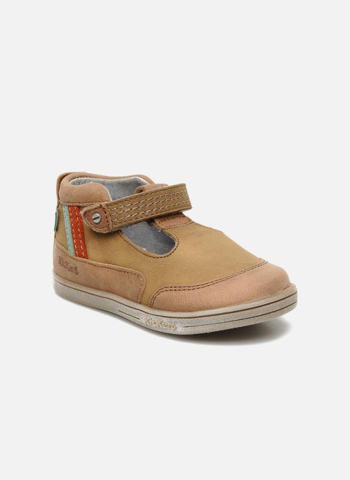 Sommersko Kickers Transat Brun detaljeret billede af skoene
