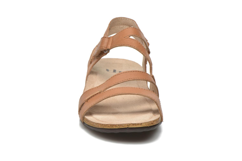 Sandales et nu-pieds TBS Belice Marron vue portées chaussures