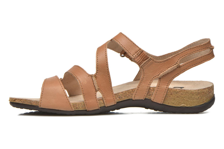 Sandales et nu-pieds TBS Belice Marron vue face