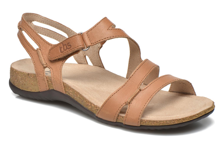 Sandales et nu-pieds TBS Belice Marron vue détail/paire