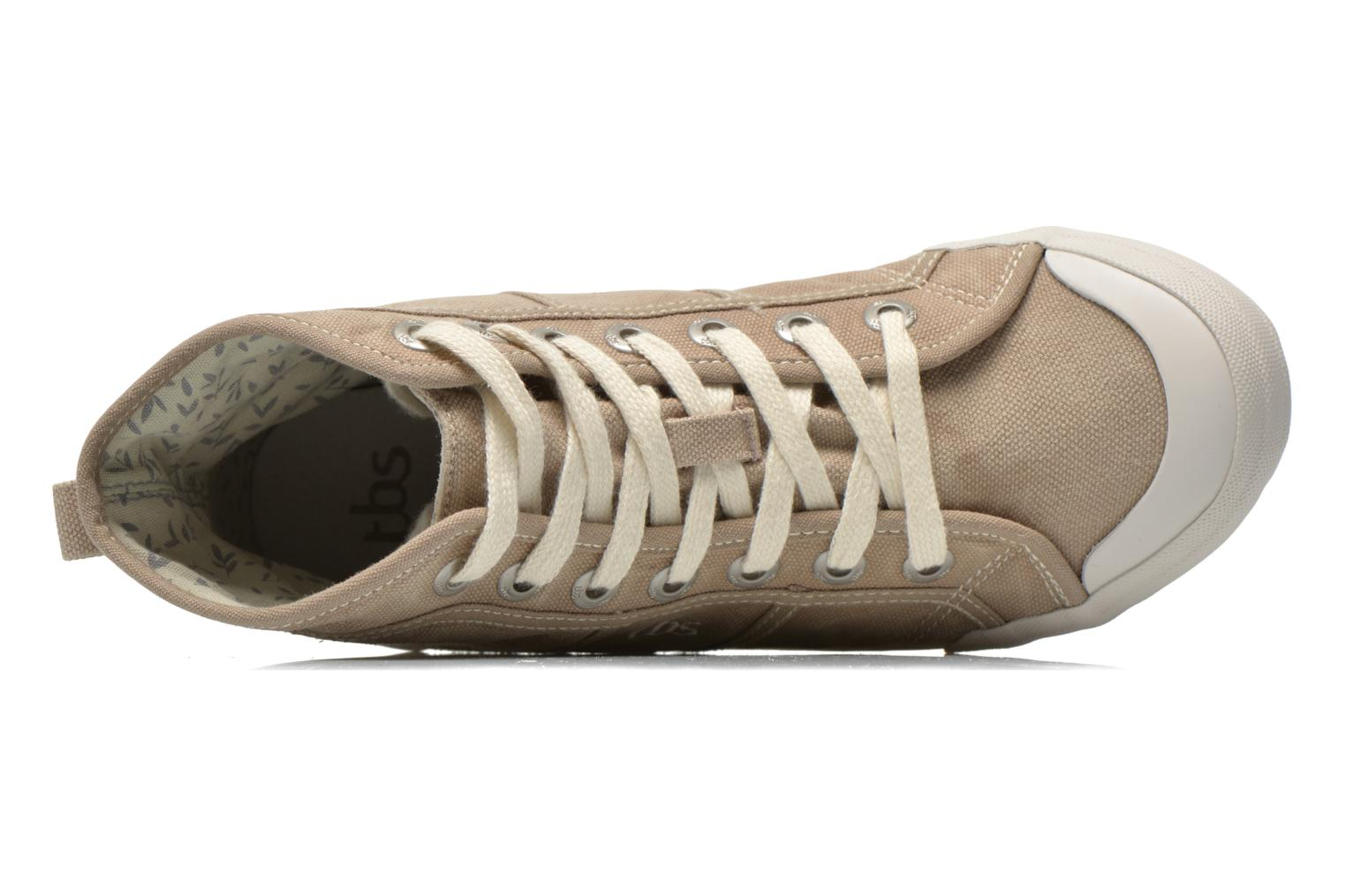 Trainers TBS Obelia Beige view from the left