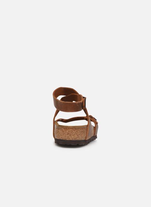 Sandali e scarpe aperte Birkenstock Yara Cuir W Marrone immagine destra