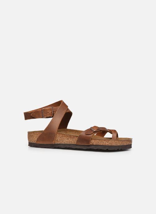 Sandali e scarpe aperte Birkenstock Yara Cuir W Marrone immagine posteriore