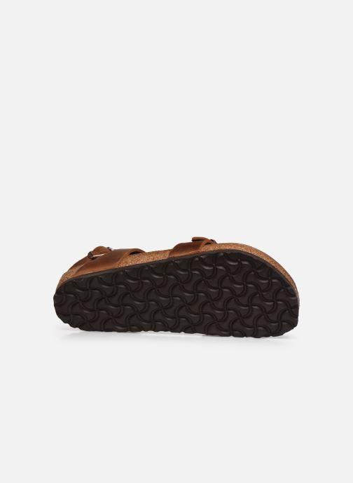 Sandali e scarpe aperte Birkenstock Yara Cuir W Marrone immagine dall'alto