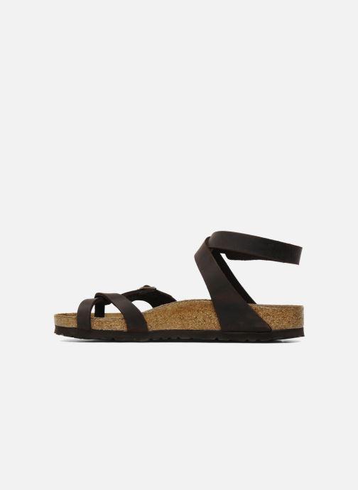 Sandali e scarpe aperte Birkenstock Yara Cuir W Marrone immagine frontale
