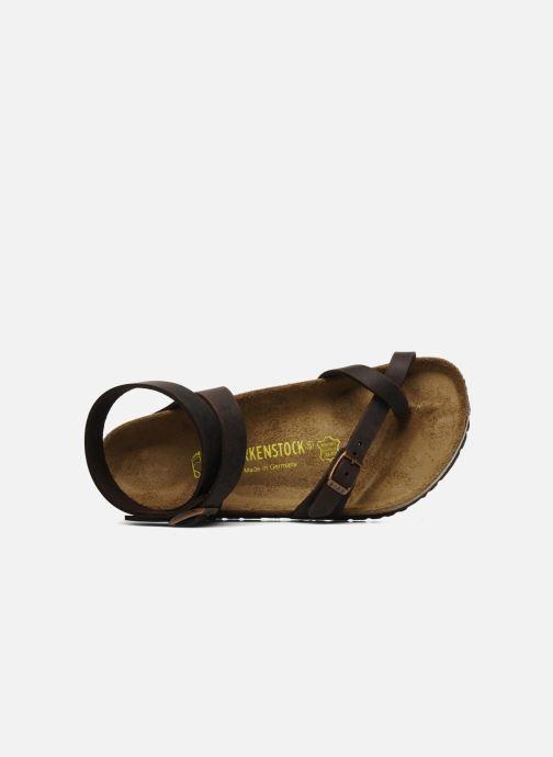 Sandali e scarpe aperte Birkenstock Yara Cuir W Marrone immagine sinistra