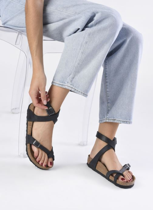 Sandales et nu-pieds Birkenstock Yara Cuir W Noir vue bas / vue portée sac