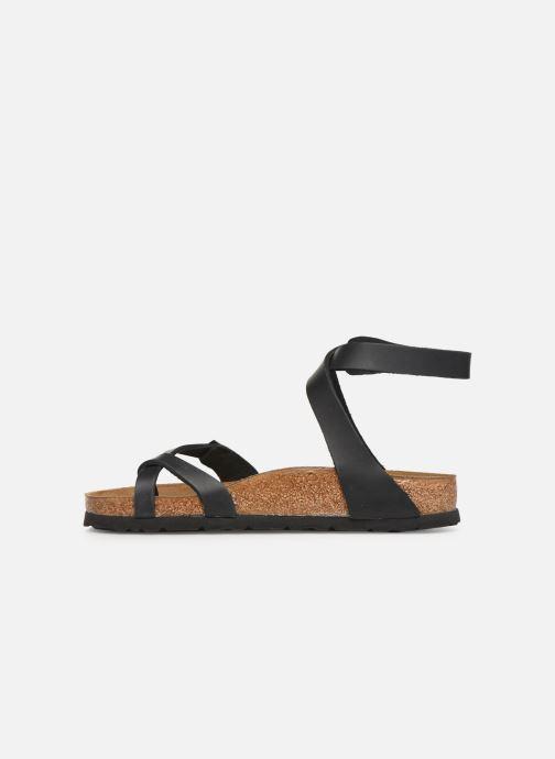 Sandales et nu-pieds Birkenstock Yara Cuir W Noir vue face