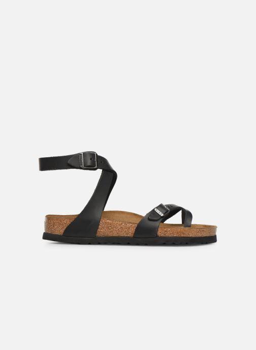 Sandales et nu-pieds Birkenstock Yara Cuir W Noir vue derrière