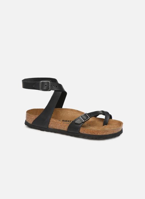 Sandales et nu-pieds Birkenstock Yara Cuir W Noir vue détail/paire