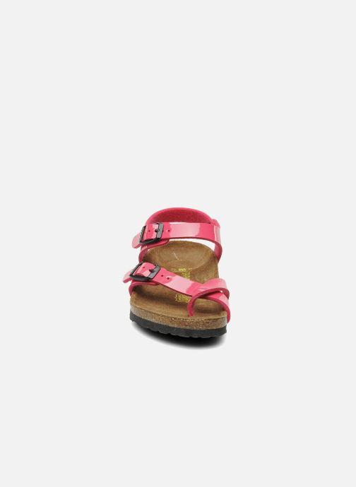 Sandalen Birkenstock Taormina Birko-Flor rosa schuhe getragen