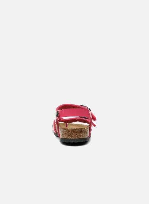 Sandali e scarpe aperte Birkenstock Taormina Birko-Flor Rosa immagine destra