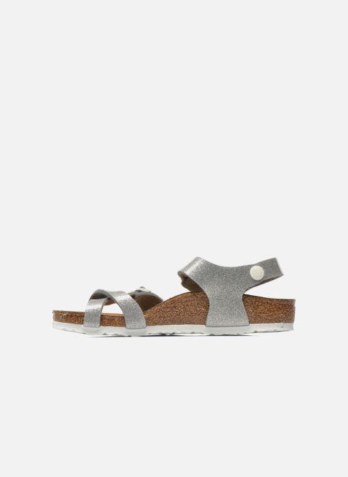 Sandals Birkenstock Taormina Birko-Flor Silver front view