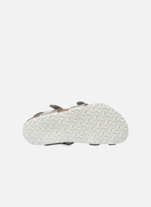 Sandales et nu-pieds Birkenstock Taormina Birko-Flor Argent vue haut
