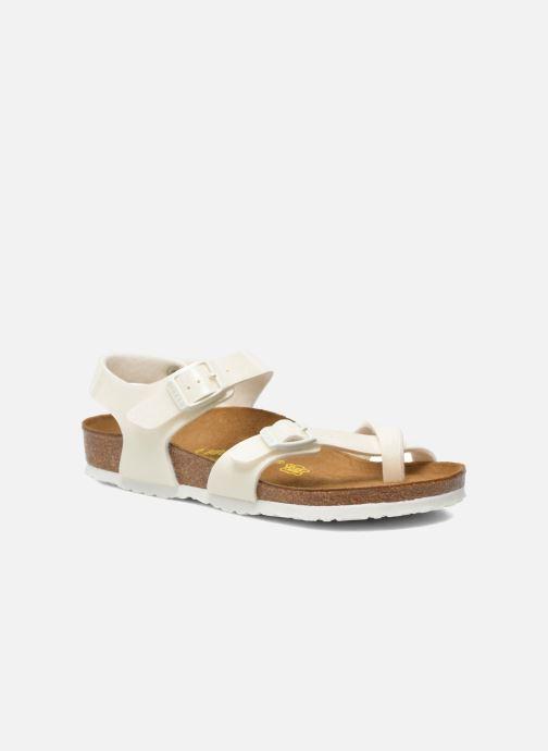 Sandals Birkenstock Taormina Birko-Flor White detailed view/ Pair view