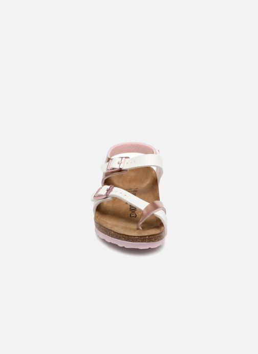 Sandali e scarpe aperte Birkenstock Taormina Birko-Flor Oro e bronzo modello indossato