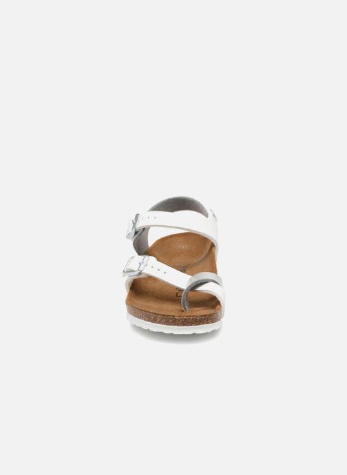 Sandales et nu-pieds Birkenstock Taormina Birko-Flor Argent vue portées chaussures