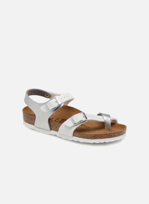 Sandales et nu-pieds Birkenstock Taormina Birko-Flor Argent vue détail/paire