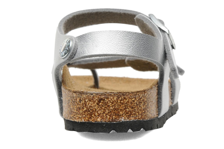 Sandalen Birkenstock Taormina Birko-Flor silber ansicht von rechts